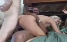 Busty MILF gets DPed by huge cocks