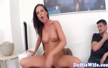 Astonishing cuckolding milf banged by BBC as her hubby enjoyed fucking scene