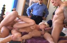 Gangbang view with his wife