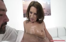 Horny old bitch fucked from behind